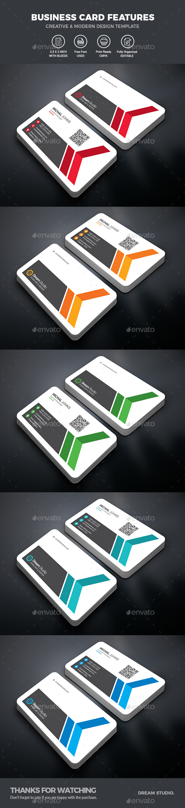 GraphicRiver Business Cards 21052413