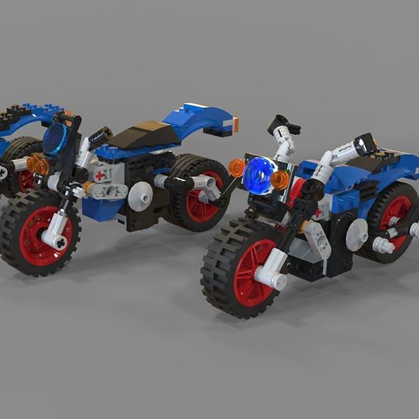 3DOcean Lego Motorcycles pack 21052418