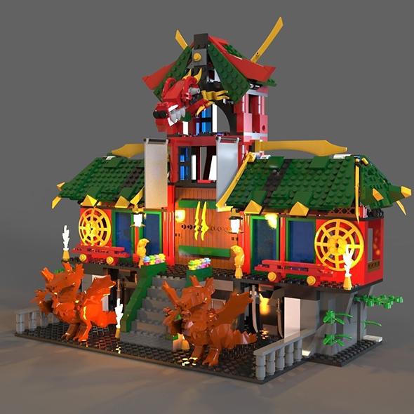 Lego ninja refuge - 3DOcean Item for Sale