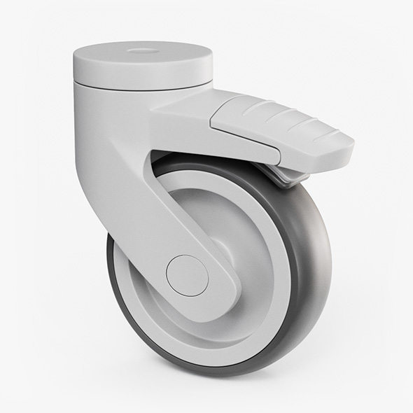 Caster Wheel - 3DOcean Item for Sale