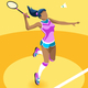 Background Badminton Vector Girl Illustration - GraphicRiver Item for Sale