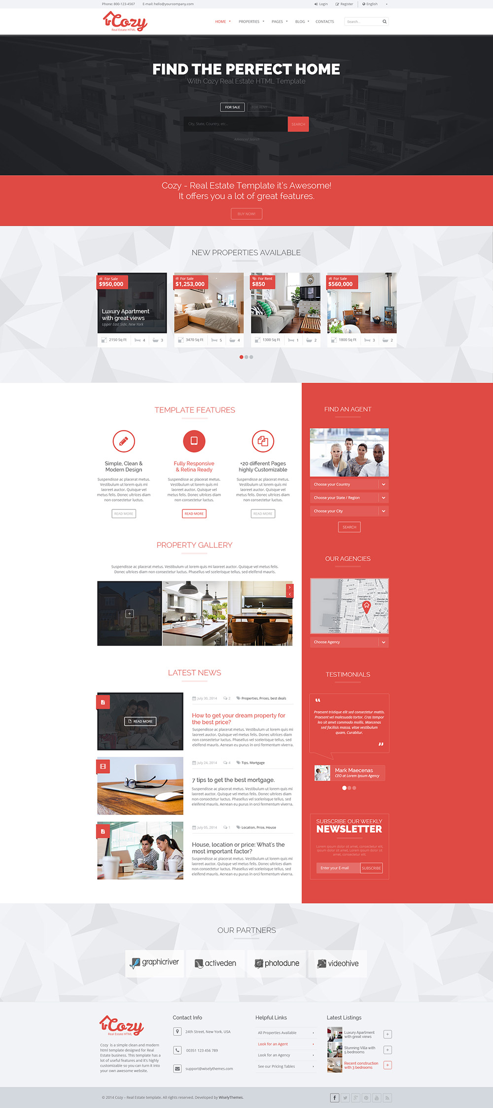 Cozy Responsive Real Estate Html Template By Wiselythemes