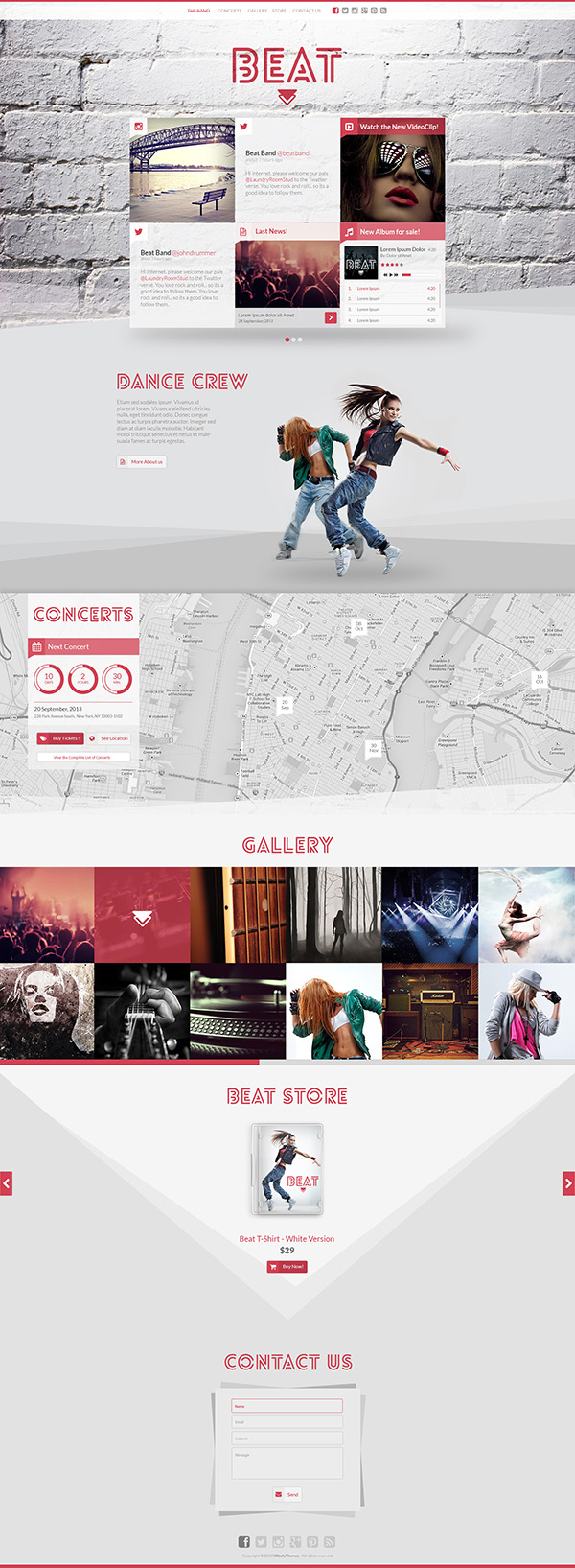 Beat - One-Page HTML5 Music & Band Template by WiselyThemes ...