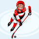 Hockey Vector Boy Cartoon Player - GraphicRiver Item for Sale