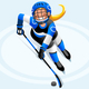 Hockey Vector Cartoon Girl Poster - GraphicRiver Item for Sale
