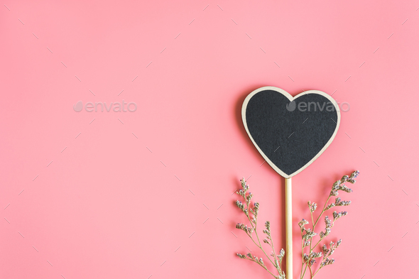 heart shape wooden sign - Stock Photo - Images