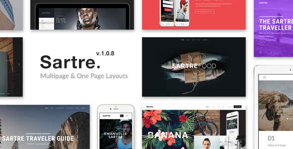 Sartre - Creative Multipurpose HTML Template - Creative Site Templates