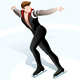 Male Figure Skating Winter Sports - GraphicRiver Item for Sale
