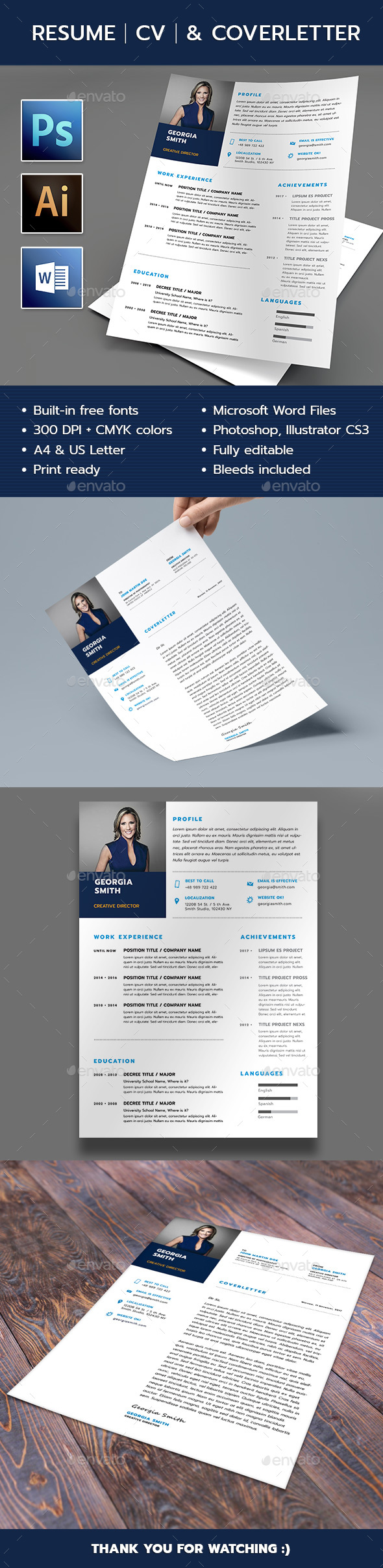 Resume U0026 Cover Letter Template   Resumes Stationery