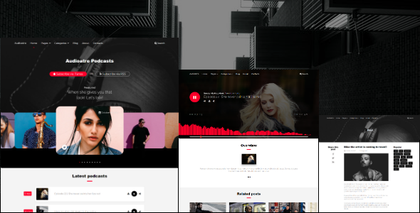 Image of Audioatro - An audio WordPress Theme