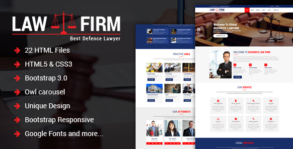 ThemeForest Law Firm Responsive Law Firm HTML Template 21052741