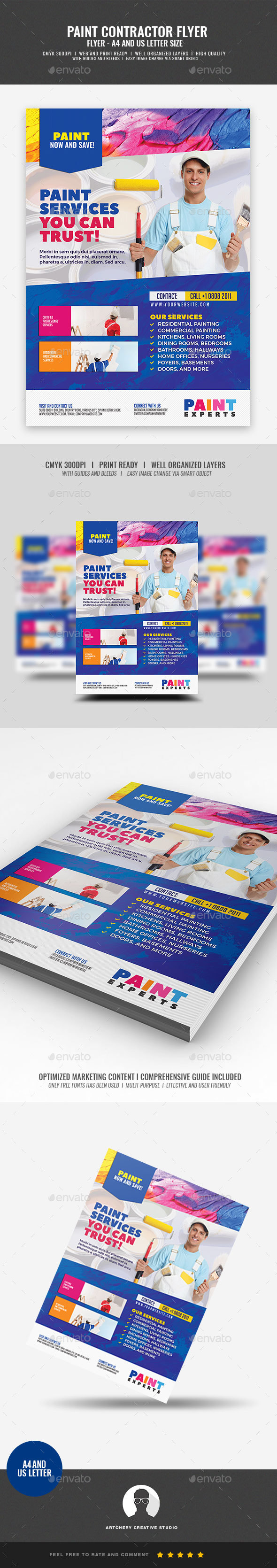GraphicRiver Paint Contractor Flyer 21052755