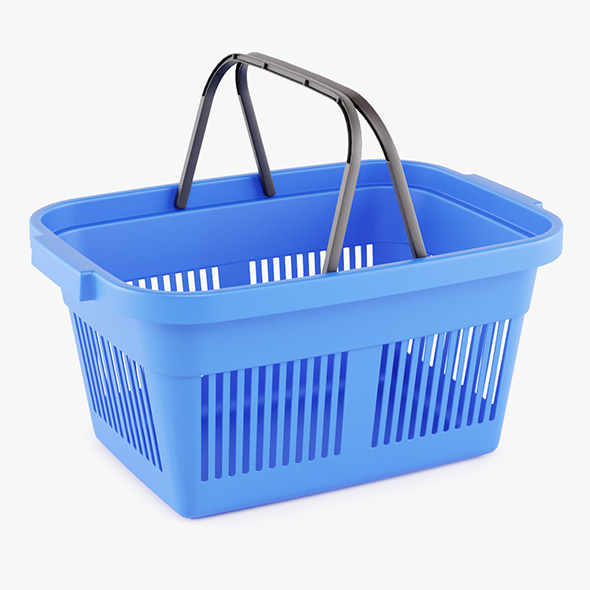 Plastic Shopping Basket - 3DOcean Item for Sale