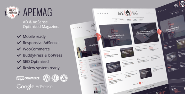 Apemag - Stylish WordPress Theme Magazine with Review System Free Templates