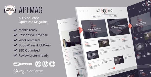 Apemag - Stylish WordPress Theme Magazine with Review System - News / Editorial Blog / Magazine