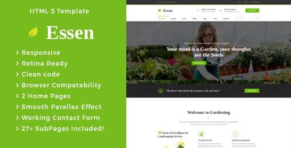 Essen - Gardening and Landscaping HTML Template