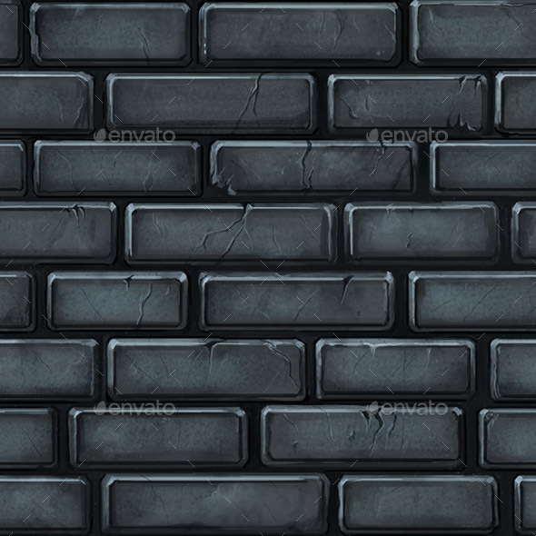 Hand Painted Seamless Stone Wall Texture - 3DOcean Item for Sale