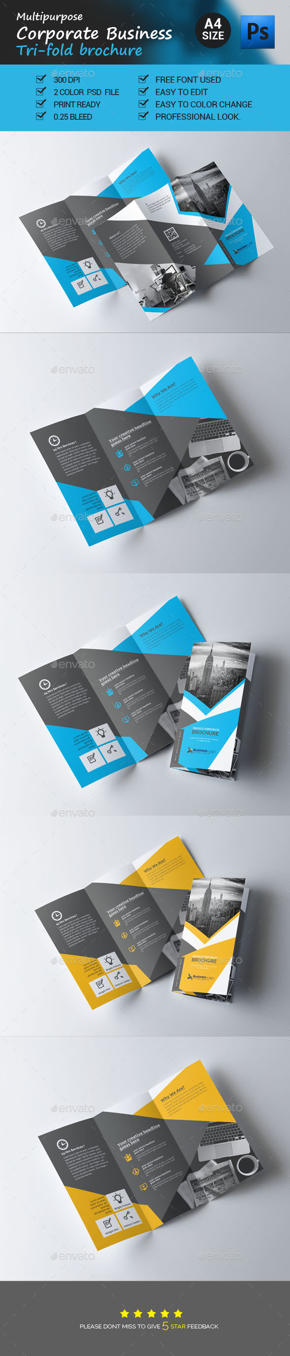 GraphicRiver Corporate Business Trifold Brochure Template 21052973