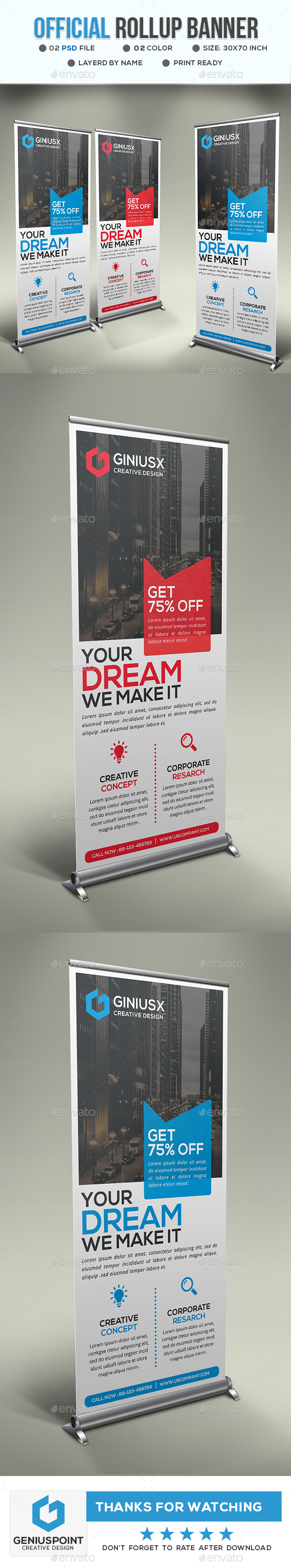 GraphicRiver Official Roll Up Banner 21052980