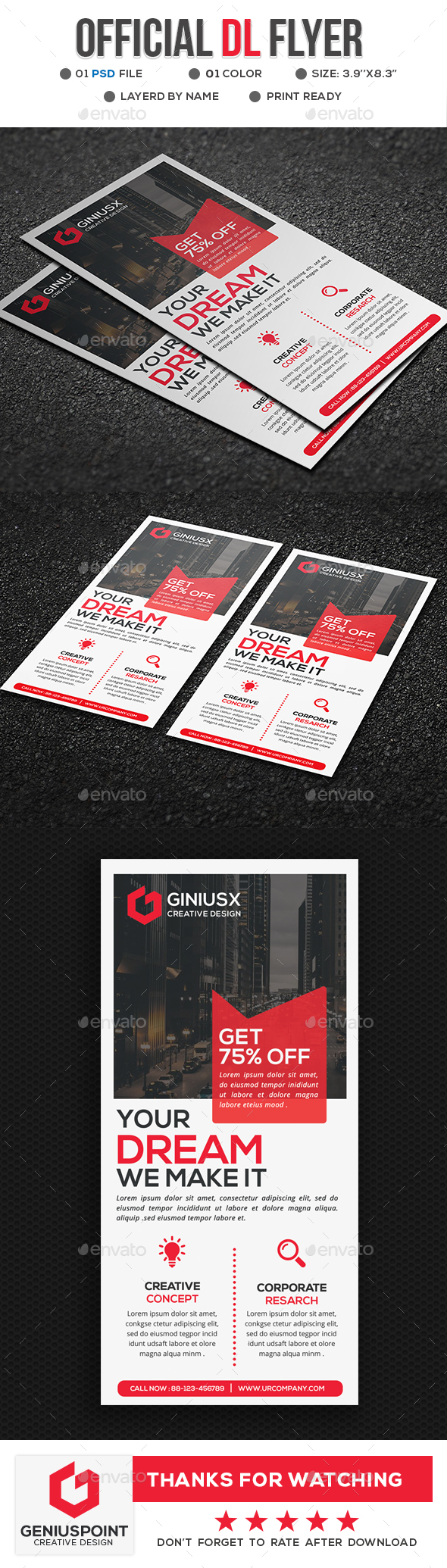 Official DL Flyer - Flyers Print Templates