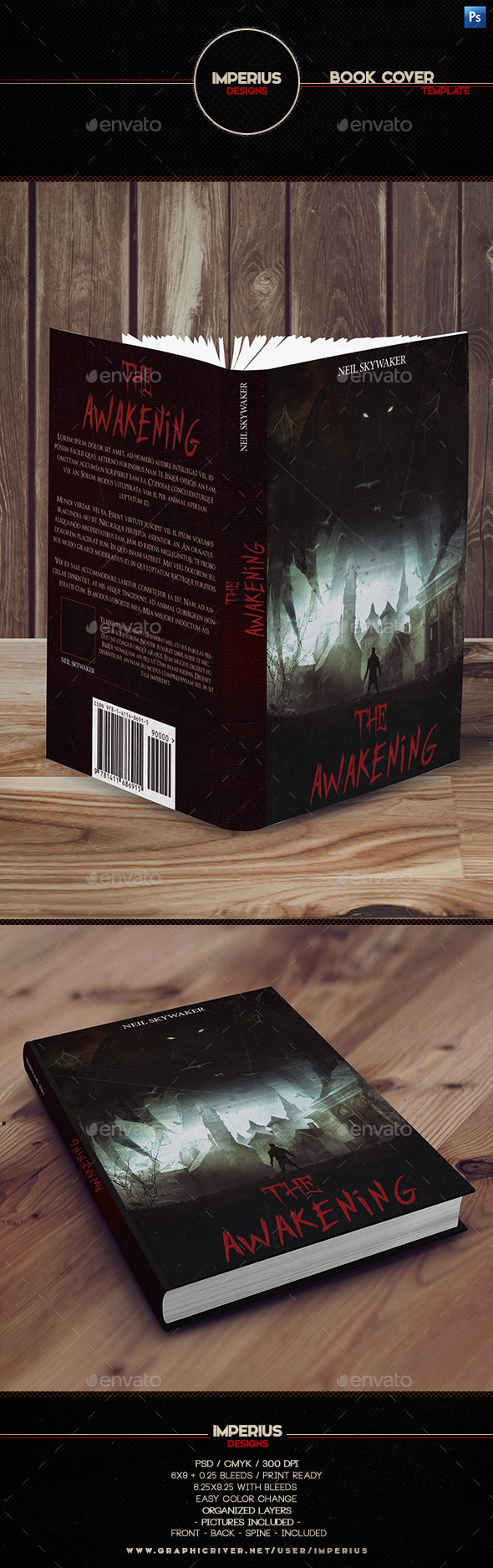 The Awakening Book Cover - Print Templates