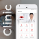 Eye Doctor App UI Set Optometrist  Ophthalmologist Care iOS + Android App