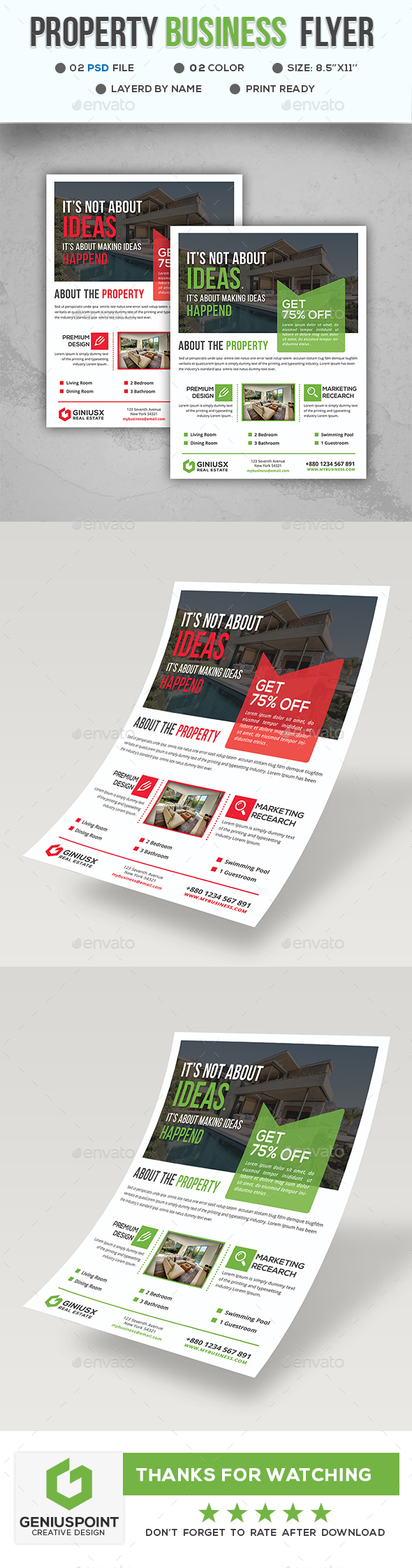 GraphicRiver Property Business Flyer 21053071