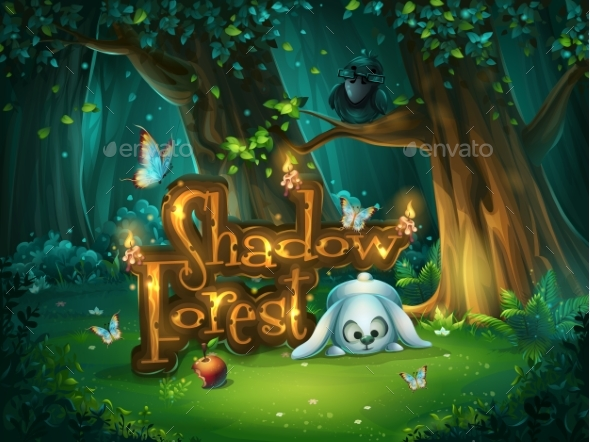 Start Window Shadowy Forest GUI - Flowers & Plants Nature