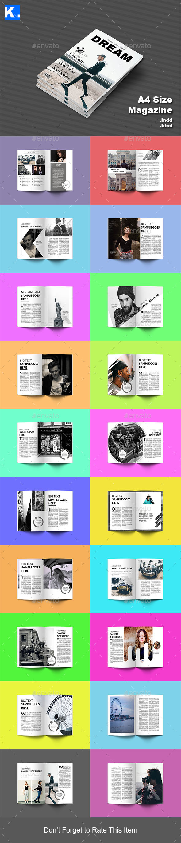 Indesign Magazine Template 5 - Magazines Print Templates