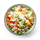 bowl of boiled rice with vegetables - PhotoDune Item for Sale