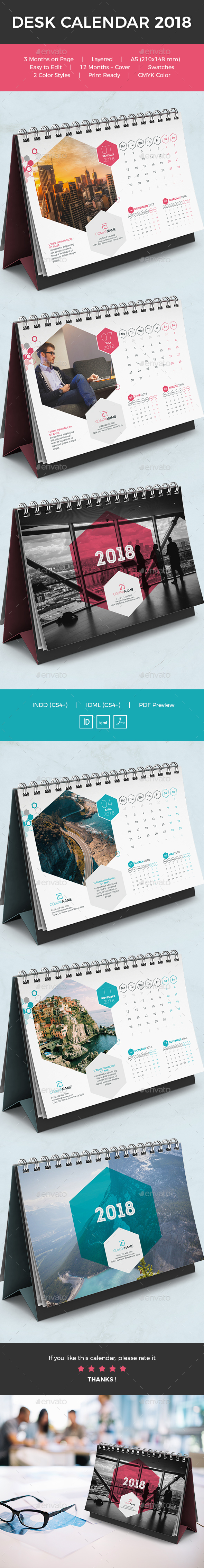 GraphicRiver Desk Calendar 2018 21053157