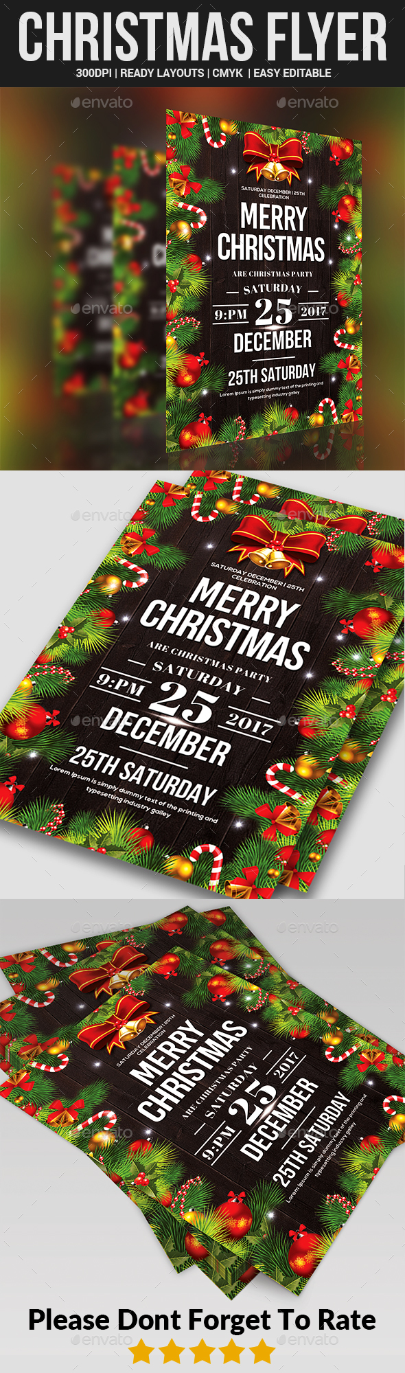 GraphicRiver Christmas Party Flyer Templates 21053281