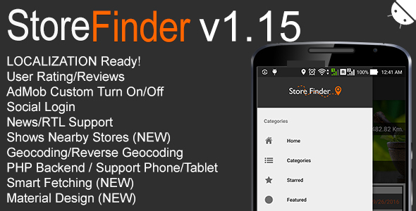 Store Finder Full Android Application v1.15 - CodeCanyon Item for Sale