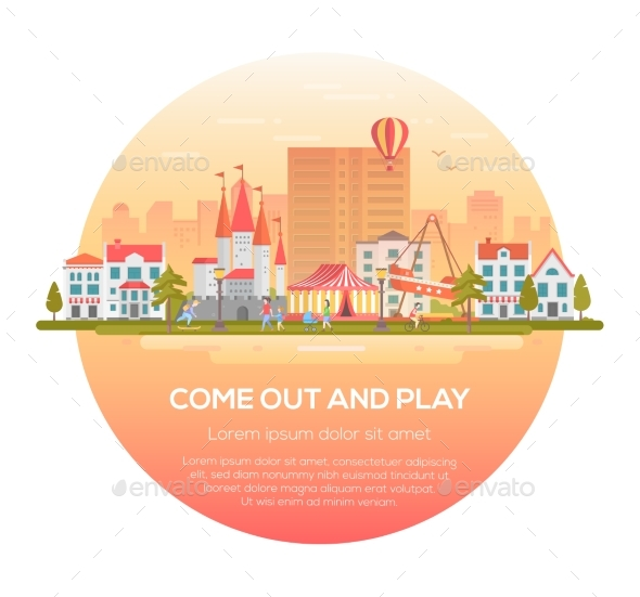 Come Out and Play - Modern Vector Illustration - Web Elements Vectors