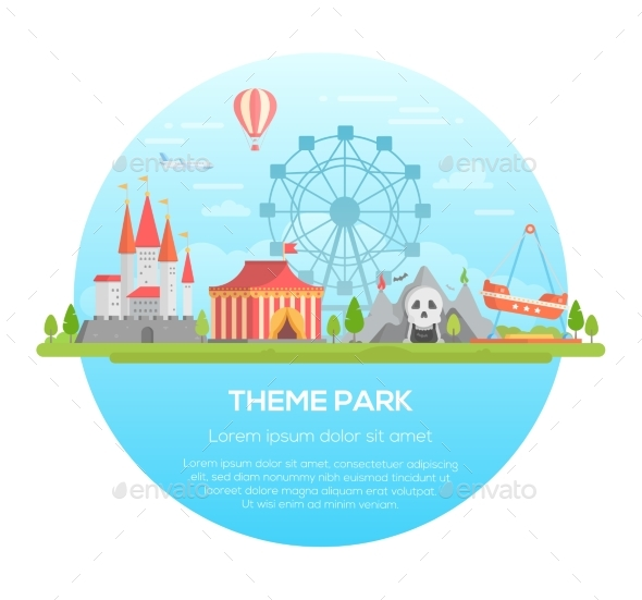 GraphicRiver Theme Park Modern Vector Illustration 21053386