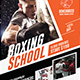 Boxing School Facebook Cover Template