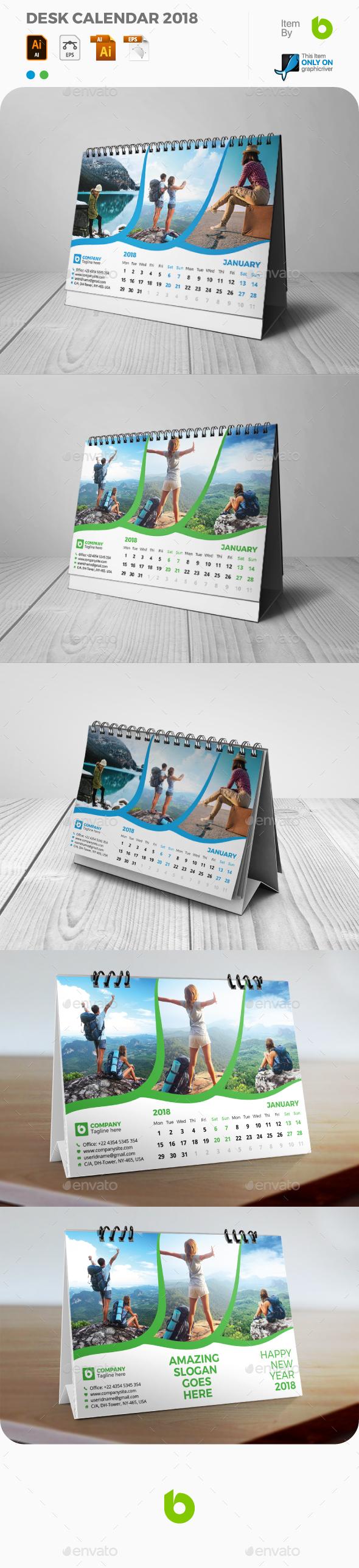 GraphicRiver Desk Calendar 2018 21053555