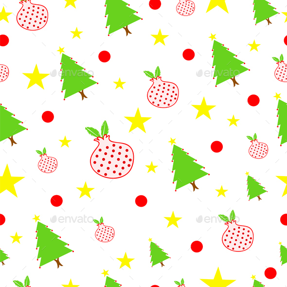 seamless tileable Christmas pattern