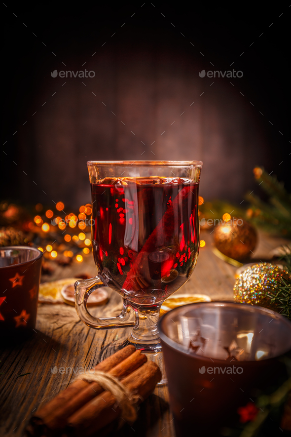 Christmas mulled wine - Stock Photo - Images