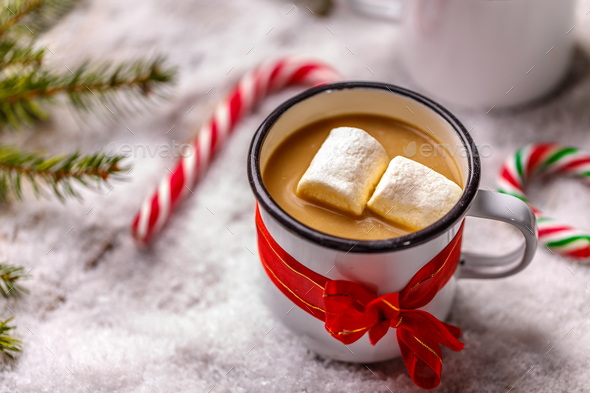 Hot chocolate and marshmallows - Stock Photo - Images