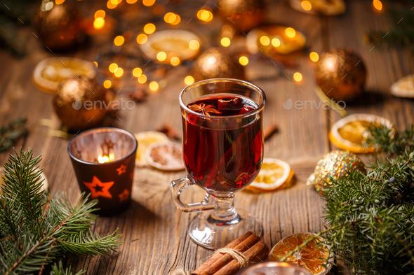 Christmas hot wine - Stock Photo - Images