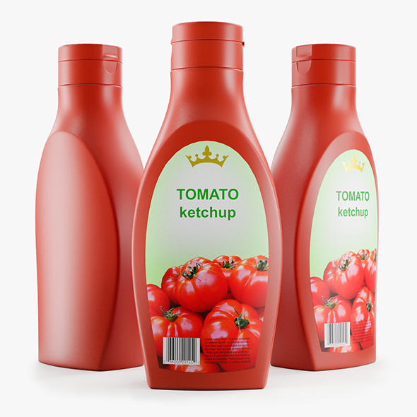 Plastic Tomato Ketchup Bottle - 3DOcean Item for Sale