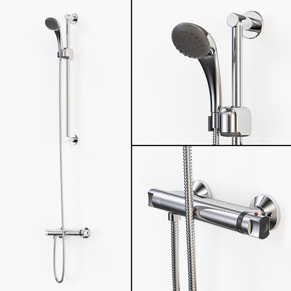 Thermostatic Shower Mixer - 3DOcean Item for Sale