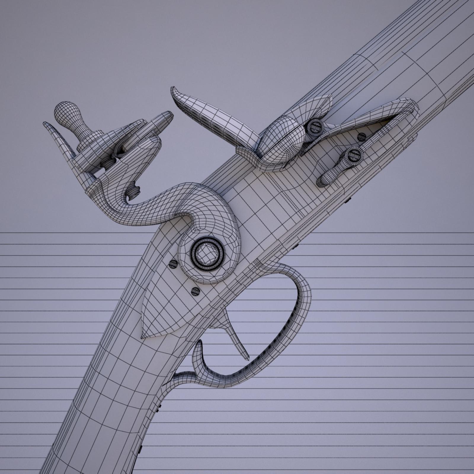 Flintlock Musket By Nicu Tepes 3docean