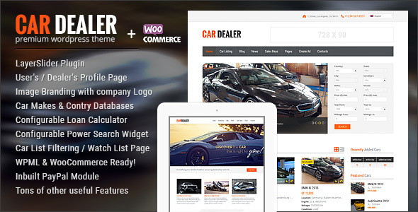 Car Dealer Automotive WordPress Theme – Responsive - Corporate WordPress