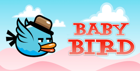 Baby Bird flies in the Sky – Clone of Flappy Bird – iPhoneX, iOS11 ready - CodeCanyon Item for Sale