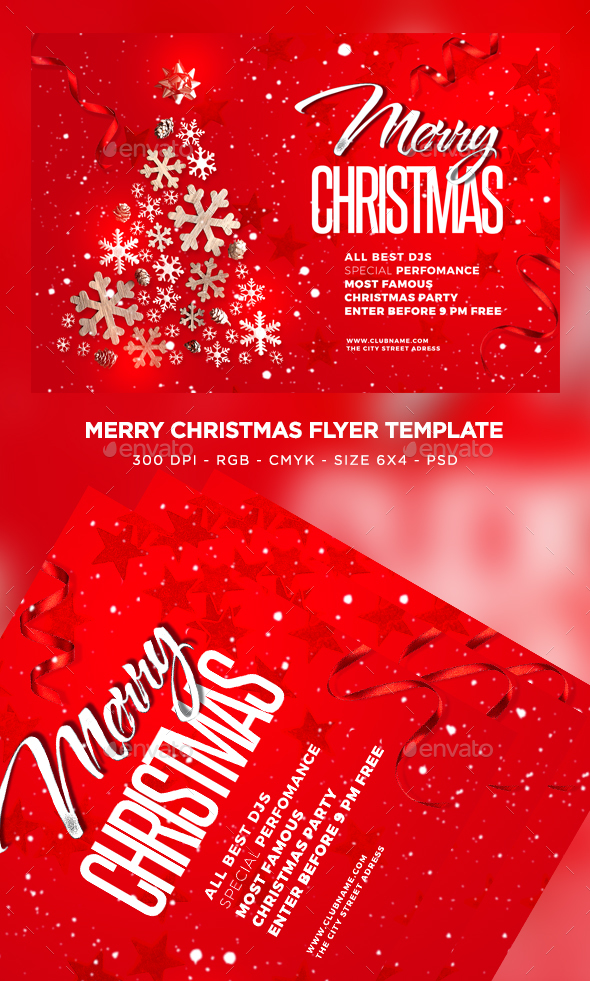 GraphicRiver Merry Christmas Flyer 21054576