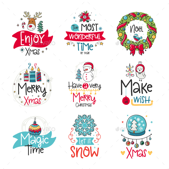 GraphicRiver Winter Doodles 21054756
