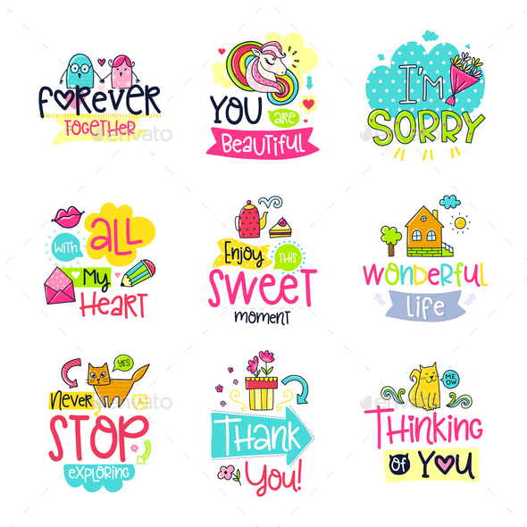 Doodle Phrases - Decorative Symbols Decorative