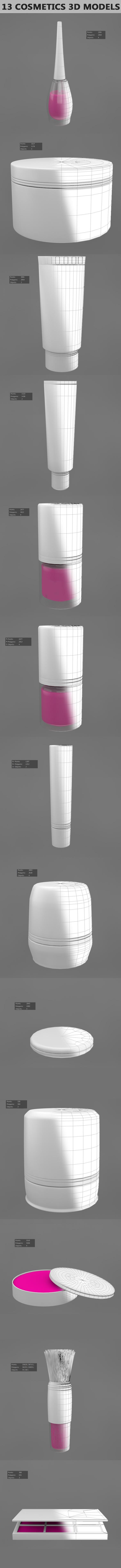 3DOcean 13 Cosmetics 3D Models 21054879